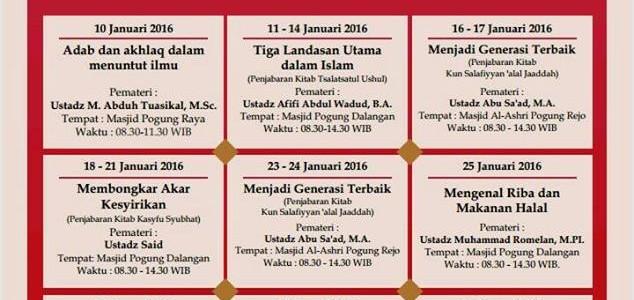 Dauroh Liburan Antar Semester Ma'had Al 'Ilmi Yogyakarta