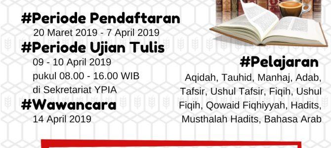 Penerimaan Santri Baru Ma'had Al 'Ilmi Yogyakarta